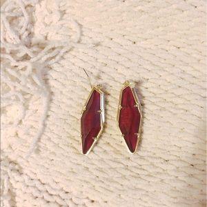 Kendra Scott Burgundy Bexley Earrings